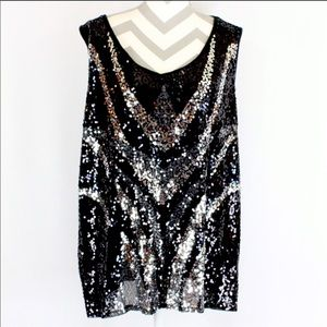 Great for NYE!!!!  Sequined tank